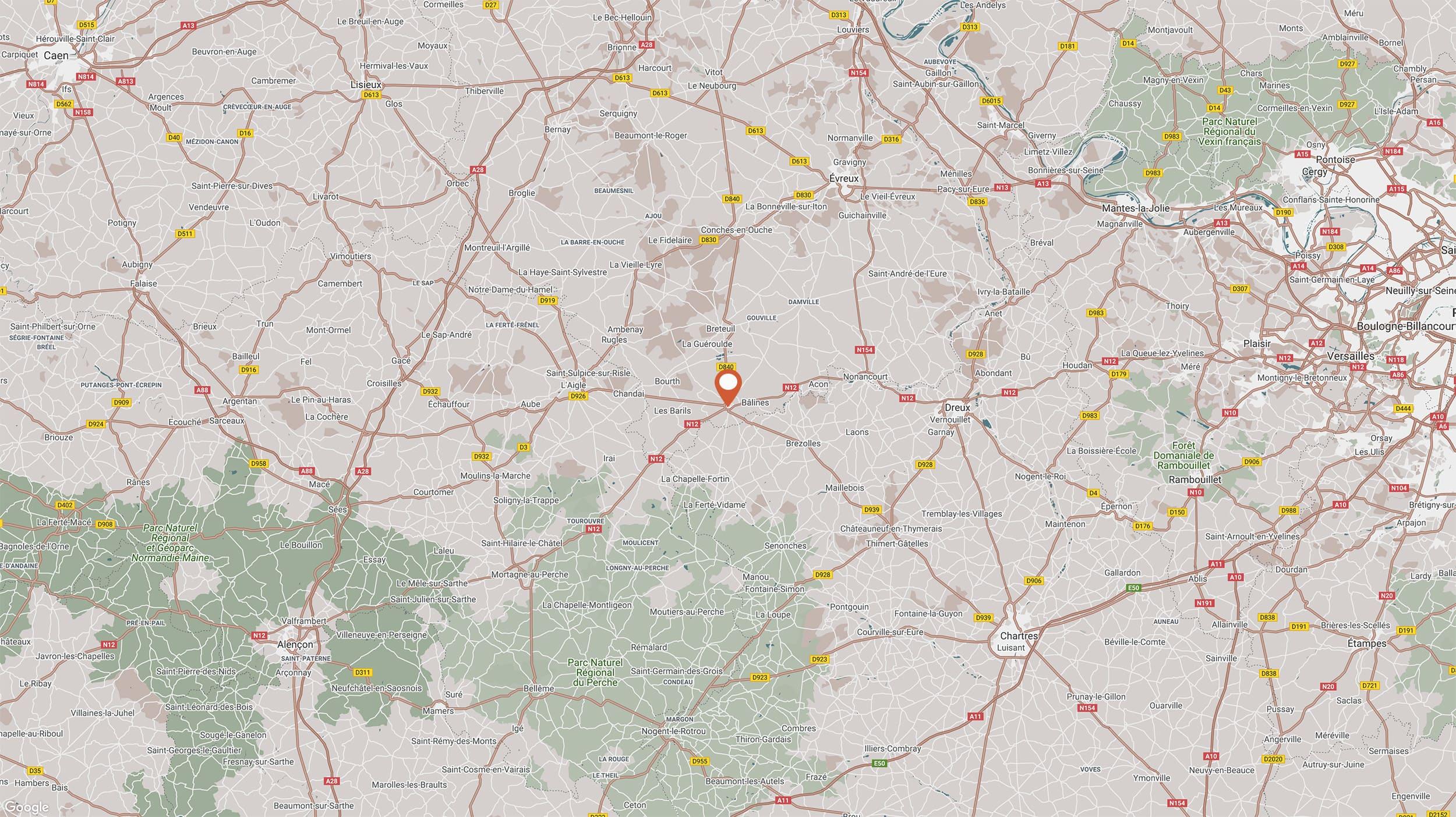 mapLe Clos Hôtel 4 étoiles · Verneuil sur Avre dans l'Eure